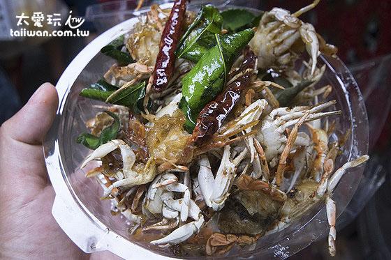 安帕瓦小吃-炸螃蟹50B