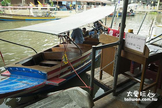 搭船遊安帕瓦參觀 4 座廟的行程每人 60Baht (共乘),包船每船600Baht