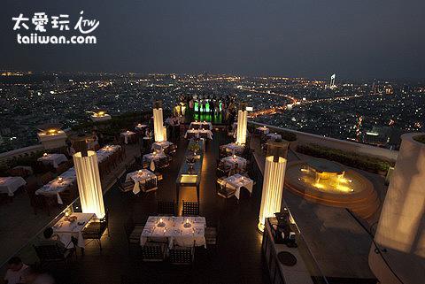 曼谷最有名的高空餐厅Sirocco