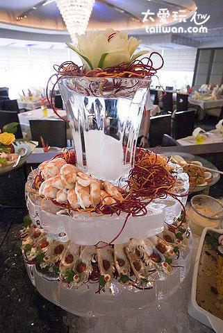 涼拌大頭蝦與孔雀蛤