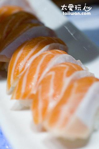 美麗的生魚片