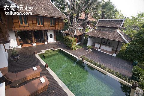 The Dhara Dhevi Hotel Chiang Mai泳池泰式別墅