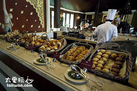 The Dhara Dhevi Hotel Chiang Mai豐盛的早餐