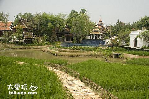 The Dhara Dhevi Hotel Chiang Mai內的農田