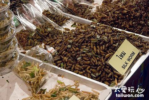 星期日夜市的蟲蟲大餐
