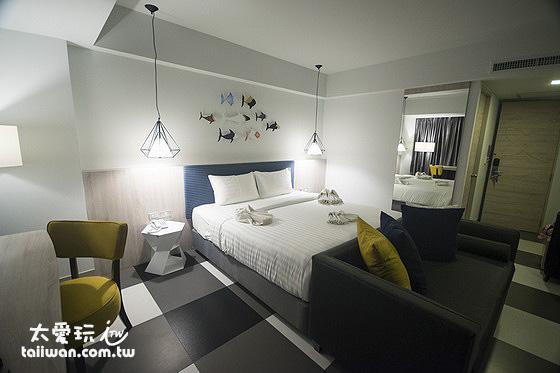 喀比海鱸飯店Krabi SeaBass Hotel房間寬敞、設備不錯、現代感
