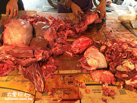 傳統市場的溫體牛