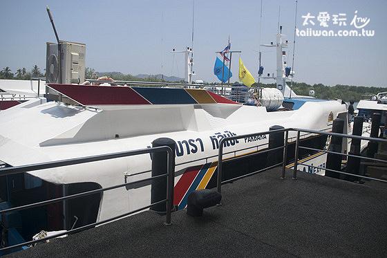 Pak Bara碼頭前往麗貝島的交通船