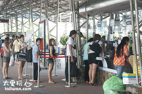Air Conditioned Bus Terminal Pattaya – Bangkok車站售票口