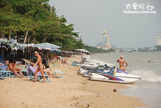 中天海灘區是比較寧靜的區域