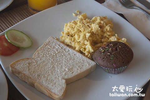 Mama Beach Residence早餐單點炒蛋