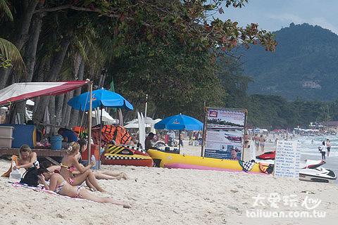 查文海灘有各種水上活動