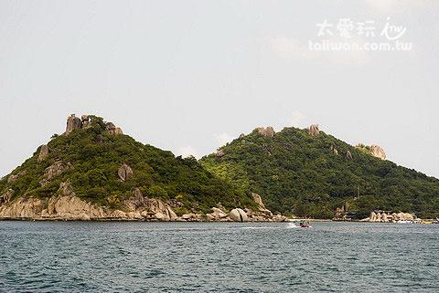 南園島的其中兩座島