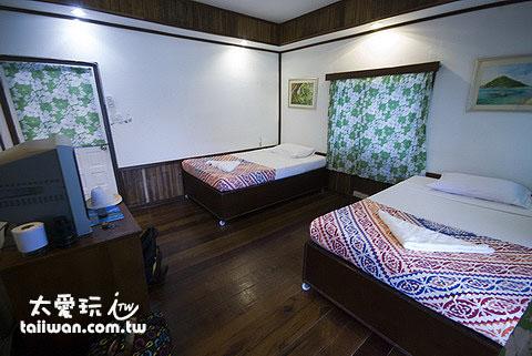 南園島標準雙床冷氣房