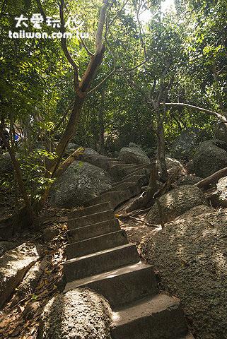 南園島前往觀景台的小路