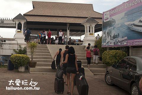 蘇美島Bo Phut碼頭搭船