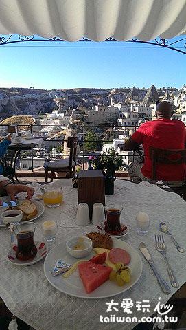 吃早餐看美景