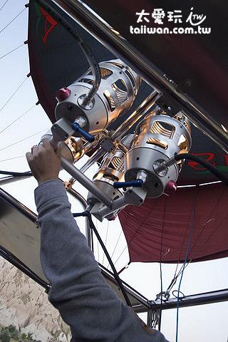 熱氣球用瓦斯加熱