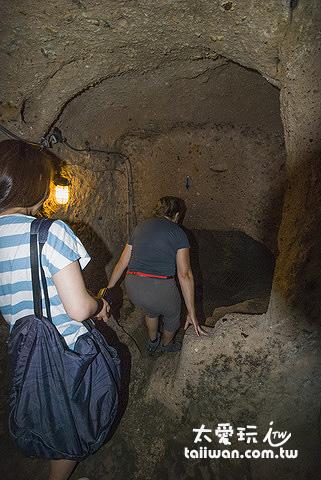 地下城Kaymakli Underground City空間非常狹小
