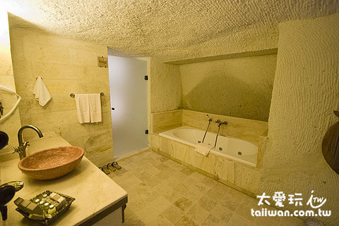 浴室的空間也很大